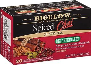 Bigelow Decaffeinated Spiced Chai Black Tea Bags, 20 Count Box (Pack of 6) Decaf Black Tea, 120 Tea Bags Total