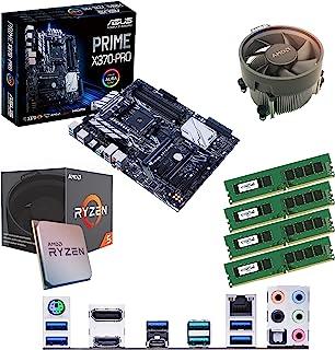 Components4All AMD Ryzen 5 1500 X 3,6 GHz (Turbo 3,7 Ghz) Quad Core åtta tråd CPU, ASUS Prime X370-PRO moderkort och 16 GB...