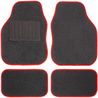 comprar comparacion Safe Travel 27652 Alfombrillas universales para vehículos con volante a la izquierda, Almohadilla para los pies con costur...