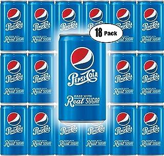 Pepsi Real Sugar, 7.5 Fl Oz Mini Can (Pack of 18, Total of 135 Oz)
