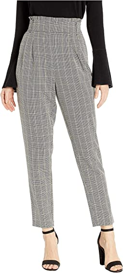 High-Waist Check Pants