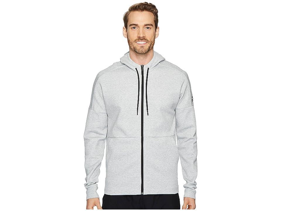adidas Sport ID Stadium Full-Zip Hoodie (Stadium Heather/Grey) Men