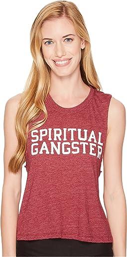 Spiritual Gangster - SG Varsity Crop Tank Top