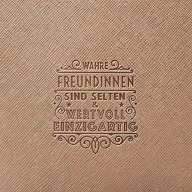 History & Heraldry Persönliche Clutch und Kosmetiktasche aus Kunstleder in Pastellfarben - Damen Handtasche Abendtasche -