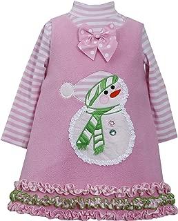Girls Snowman Gingerbread Man Winter Holiday Jumper Dress Set