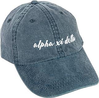 Alpha Xi Delta (N) Sorority Baseball Hat Cap Cursive Name Font Alpha zee