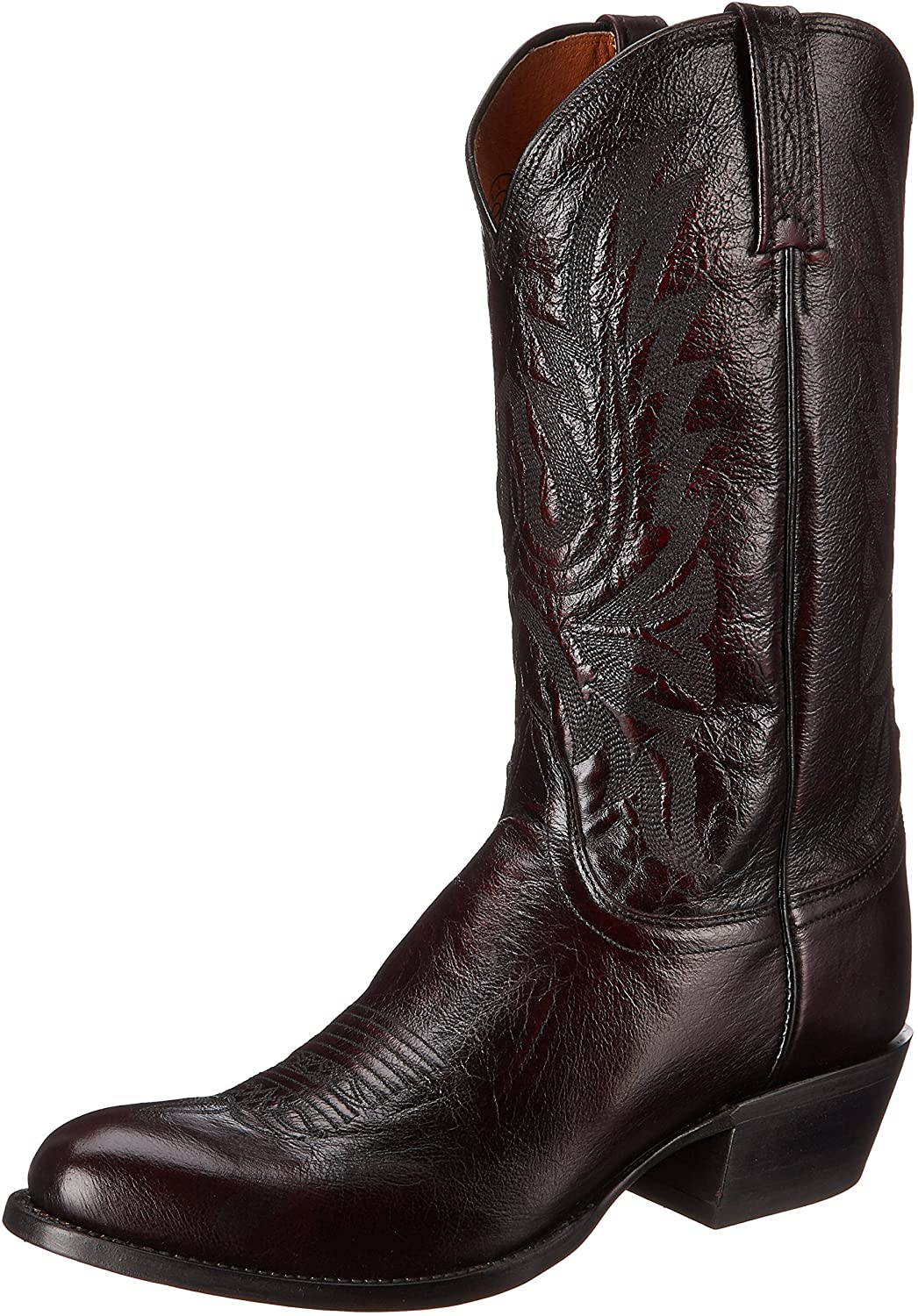 Lucchese Bootmaker Mens Carson Max 87% OFF Lonestar Easy-to-use Dress Toe Calf Boo Round