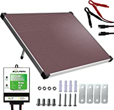 SOLPERK 12V Solar Panel,Solar trickle Charger,Solar Battery Charger and Maintainer, Suitable for Automotive, Motorcycle, Boat, ATV,Marine, RV, Trailer, Powersports, Snowmobile, etc. (30W Amorphous)