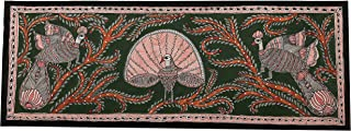 The Krafts Mithila Paintings Madhubani Art with Peacock Dancing in Jungle