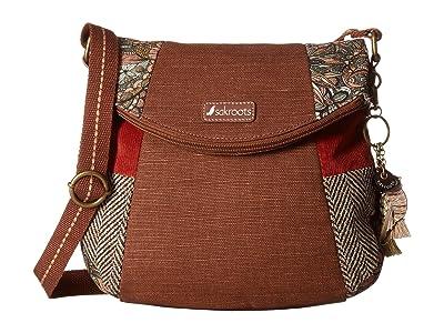 Sakroots Artist Circle Foldover Crossbody (Sienna Spirit Desert) Cross Body Handbags