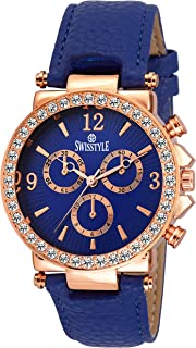 Swisstyle Analogue Blue Dial Womens Watch-Ss-Lr625-Blu-Blu