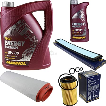 Filter Set Inspektionspaket 6 Liter Mannol Motoröl Energy Premium 5w 30 Api Sn Cf Sct Germany Innenraumfilter Luftfilter Ölfilter Auto