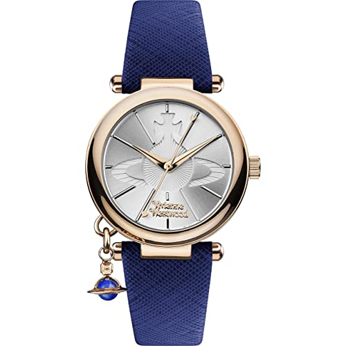 41d481526b1 Vivienne Westwood Women s Orb Pop Quartz Analogue Display Watch with Silver  Dial and Blue Leather Strap