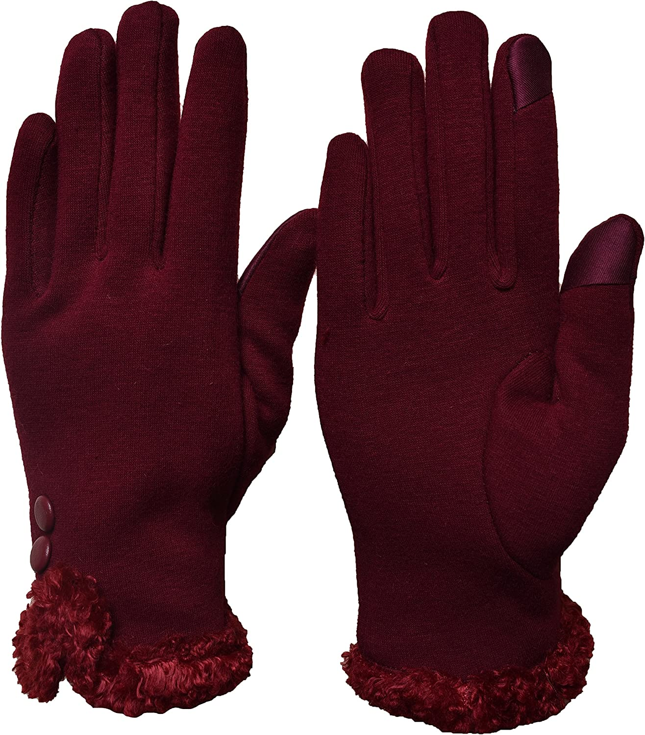 Woogwin Womens Touch Screen Gloves Texting Winter Warm Fleece Lined Ladies Gloves