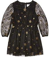Foil Printed Mesh Dress (Toddler/Little Kids)