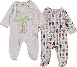 Star Wars, Baby Boys 2 Pack Sleep N' Play Footies