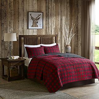 Woolrich 100% Cotton Quilt Reversible Plaid Cabin Lifestyle Design - All Season, Breathable Coverlet Bedspread Bedding Set...