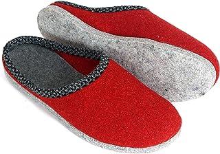 Pantoufles en Feutre Rouge & Lind Pantoufle Chaussons Hommes Femmes Unisexe Adulte différentes Couleurs dans différentes T...