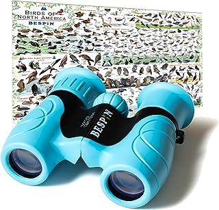 BESPIN Binoculars for Kids 8x21 Bird Watching, High-Resolution Real Optics for Wildlife Watching with Reversible Bird Map ...