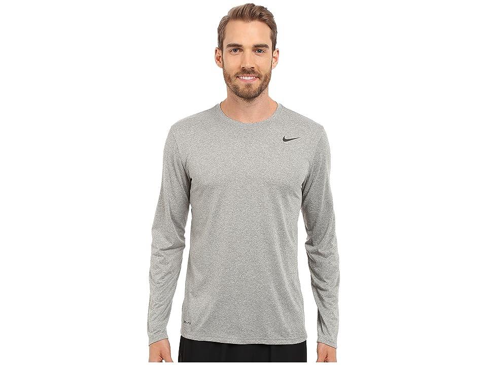 Nike Legend 2.0 Long Sleeve Tee (Dark Grey Heather/Black/Black) Men