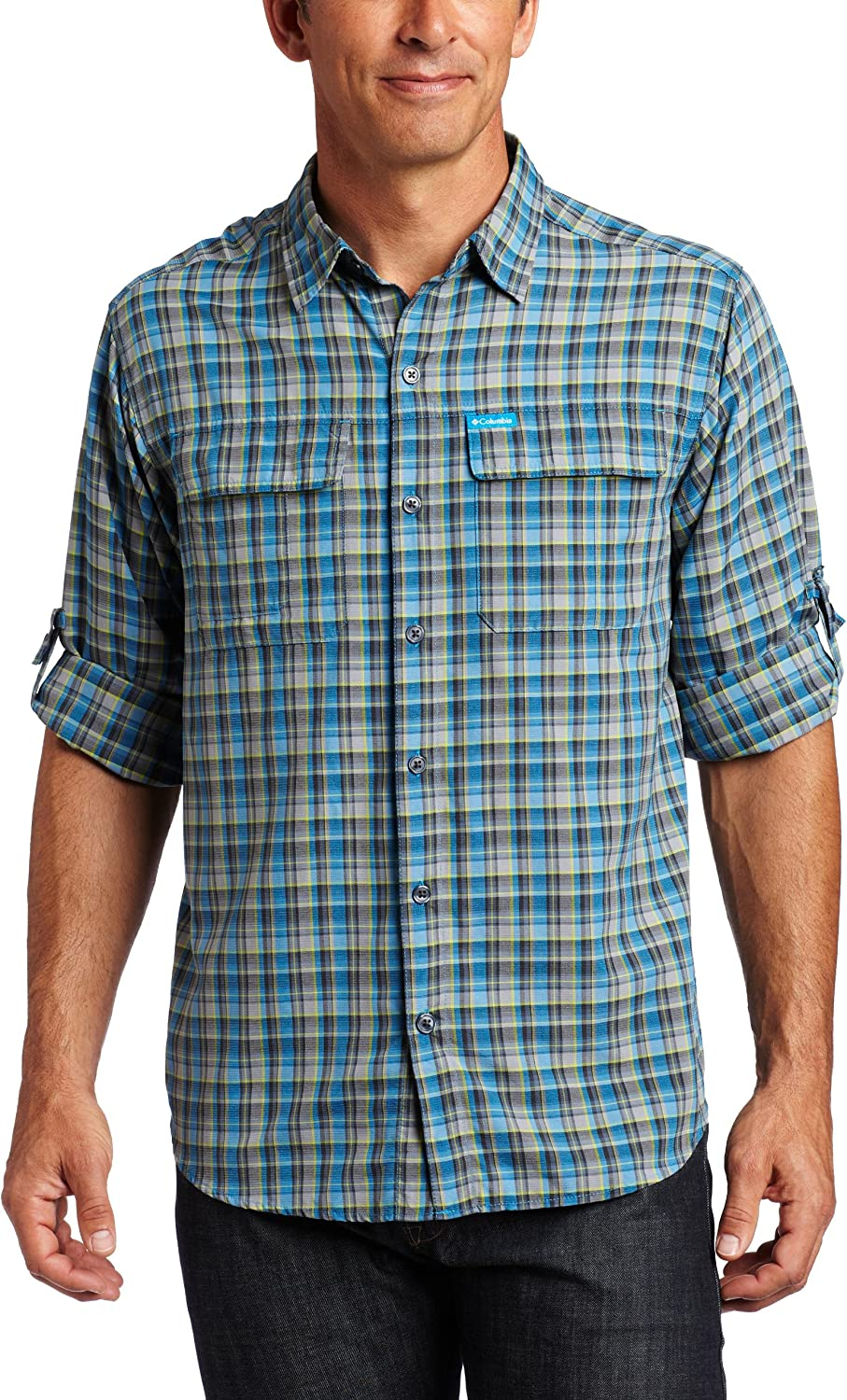 Columbia Men's Silver Ridge Sleeve Shirt Plaid Directly managed store Large-scale sale Long