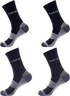 Laulax 4 Pairs Unbreakable Toe Work Socks, Size UK 7-11 / Europe 41-46