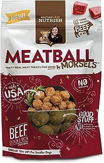 Rachael Ray Nutrish Meatball Morsels Grain Free Dog Treats, Beef, Chicken & Bacon Recipe, 3 Oz. Bag Sample