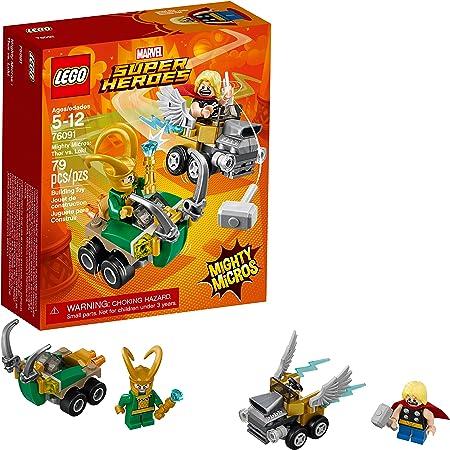 LEGO Marvel Super Heroes Mighty Micros: Thor vs. Loki 76091 Building Kit (79 Piece) : Toys & Games