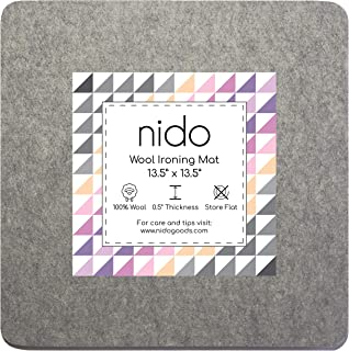 13.5 x 13.5 Inches Wool Ironing Mat - Authentic 100% New Zealand Wool Pressing Pad, Perfect for Quilting and More!