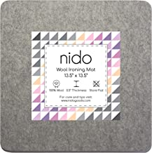 Portable for Quilting Guilds and Classes! 13.5 x 13.5 Wool Ironing Mat 100/% New Zealand Wool Pressing Pad