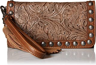 M&F Western Ariana Clutch Wallet Brown One Size