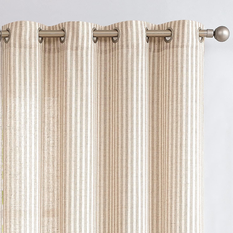 Linen Under blast sales Textured Curtains for Living Kansas City Mall Room 84 Long CurtainsStr inch