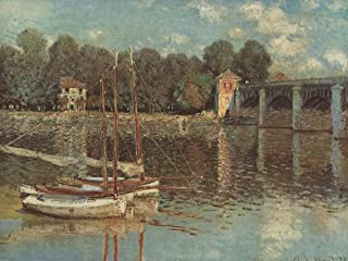 Home Comforts Monet, Claude - The Railway Bridge at Argenteuil Vivid Imagery Laminated Poster Print 11 x 17