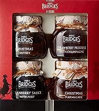 Mrs Bridges Christmas Collection Preserves, Marmalade & Condiment Gift Box Set, 4 Ounce Jars
