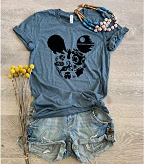 Star Wars Mickey // Disney Love T Shirt/Cool T Shirt/Disney Trip T Shirt/Unisex Fit From Bella Canvas/Crew-Neck Shirt/Free Shipping/