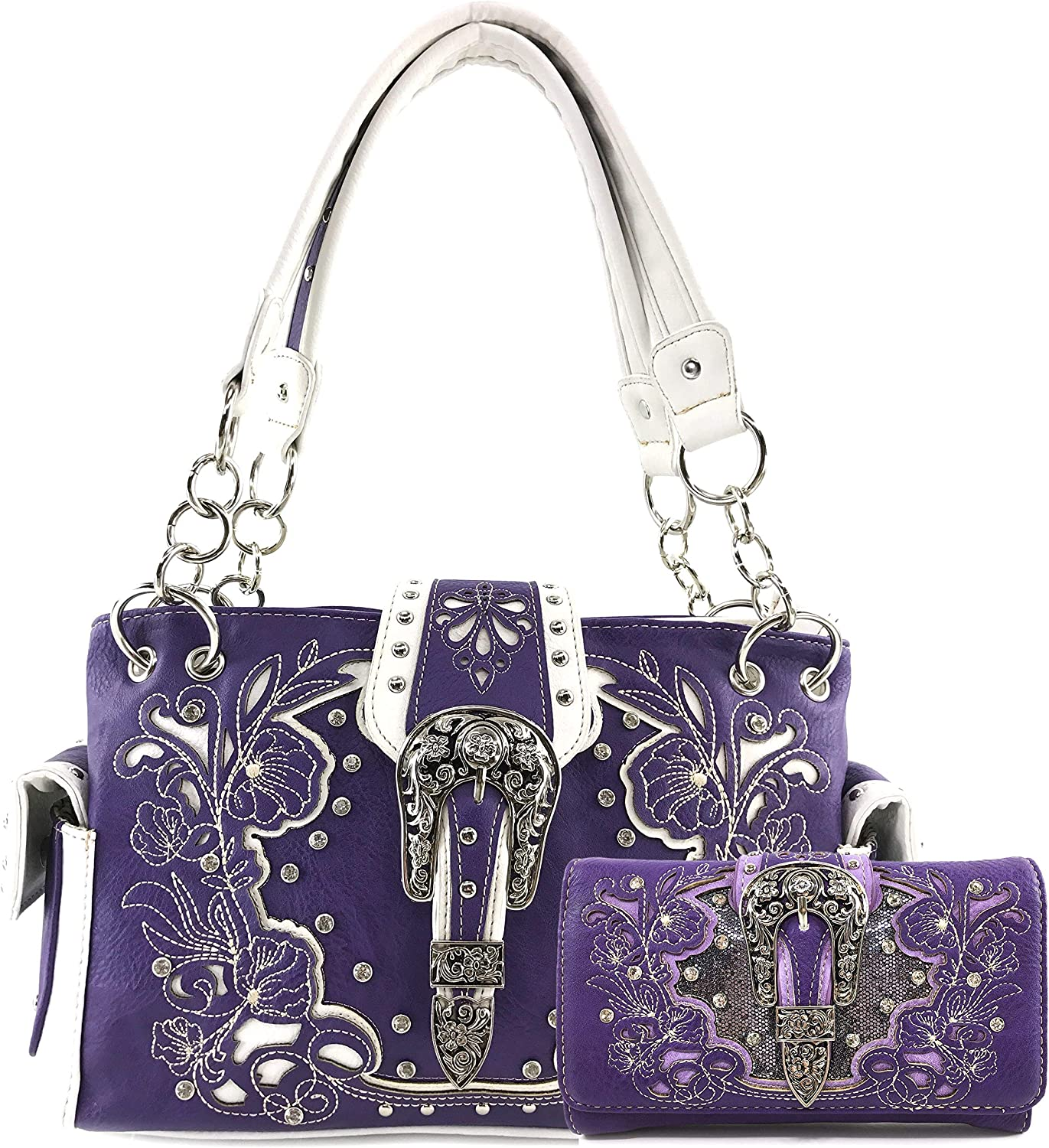 Zelris Western Floral Blossom Buckle Handbag 正規激安 新作アイテム毎日更新 Conceal Carry Women