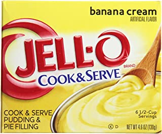 JELL-O Banana Cream Pudding & Pie Filling (4.6 oz Boxes, Pack of 24)