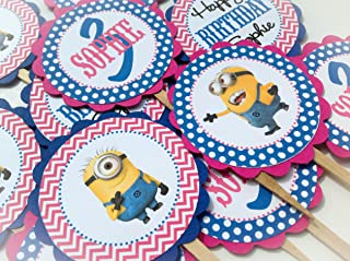 minion cupcake toppers party city