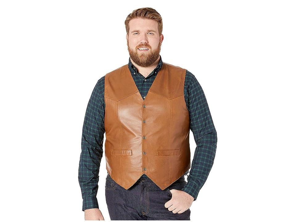 Scully Leather Vest (Tan) Men