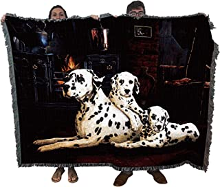 Pure Country Weavers - Dalmatian Woven Tapestry Throw Blanket with Fringe Cotton USA Size 72 x 54