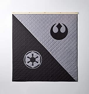 Bokser Home Limited Edition Star Wars Collectors Quilt, Queen | Officially Licensed Bedding with Rebel and Empire Art | Hand-Stitched Long-Staple Cotton | Super Soft Cotton Fill
