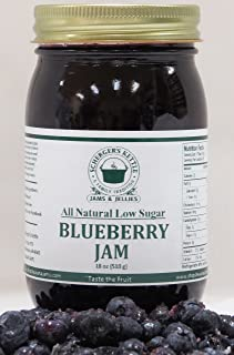 Blueberry Jam, All Natural/Low Sugar, 18 oz