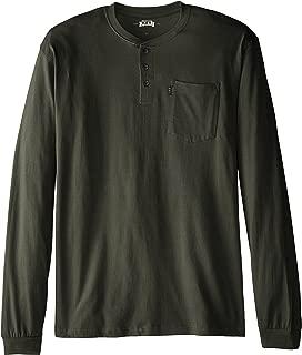 Key Apparel Men's Big & Tall 3-Button Long-Sleeve Henley Pocket T- Shirt