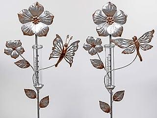 lila aus Metall Formano Garten F20 94cm rot 2er Set Gartenstecker Blumen H