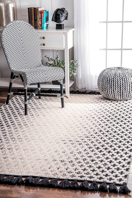 nuLOOM Renna Max 44% OFF Reversible Tassel Wool Area x Ivory 3' 5' Rug Philadelphia Mall