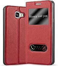 Cadorabo Custodia Libro per Samsung Galaxy A3 2016 in Rosso Zafferano – con Funzione Stand e Chiusura Magnetica – Portafoglio Cover Case Wallet Book Etui Protezione