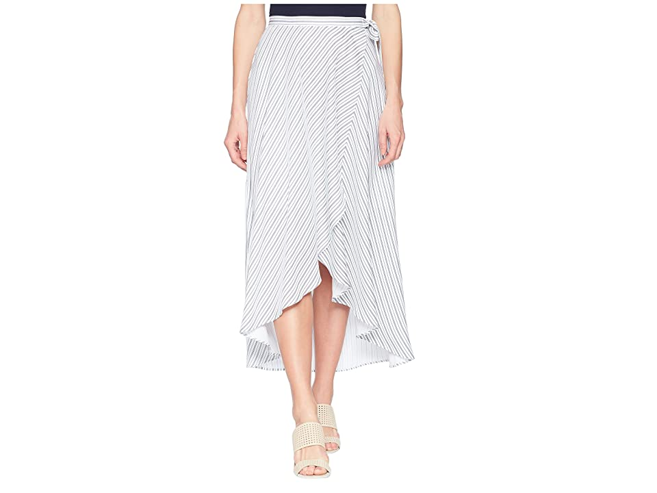 Tribal 37 Woven Crepe Long Wrap Skirt in White (White) Women