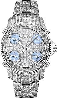 Men's Luxury Jet Setter 2.34 ctw Diamond Wrist Watch with Stainless Steel Link Bracelet