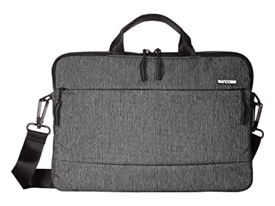 Incase City Collection 15 Brief (Heather Black/Gunmetal Gray) Briefcase Bags