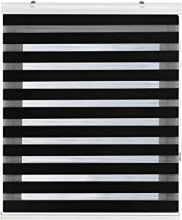 comprar comparacion Blindecor Vela Noche y Día Estor Enrollable de Doble Capa, Poliéster, Negro, 160 x 180